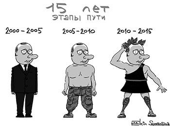 (2015, S. Jołkin, 15 lat. Etapy kariery)